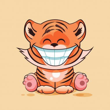 Tiger cub with huge smile
