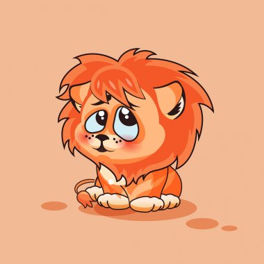 Lion cub confused
