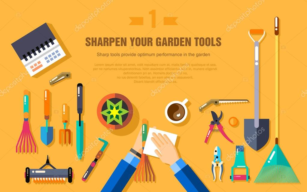 SHARPEN YOUR GARDEN TOOLS