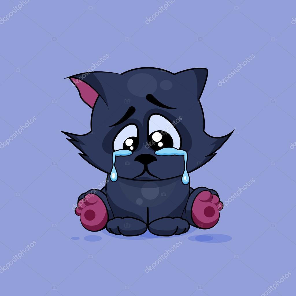 isolated Emoji character cartoon sad and frustrated black ...