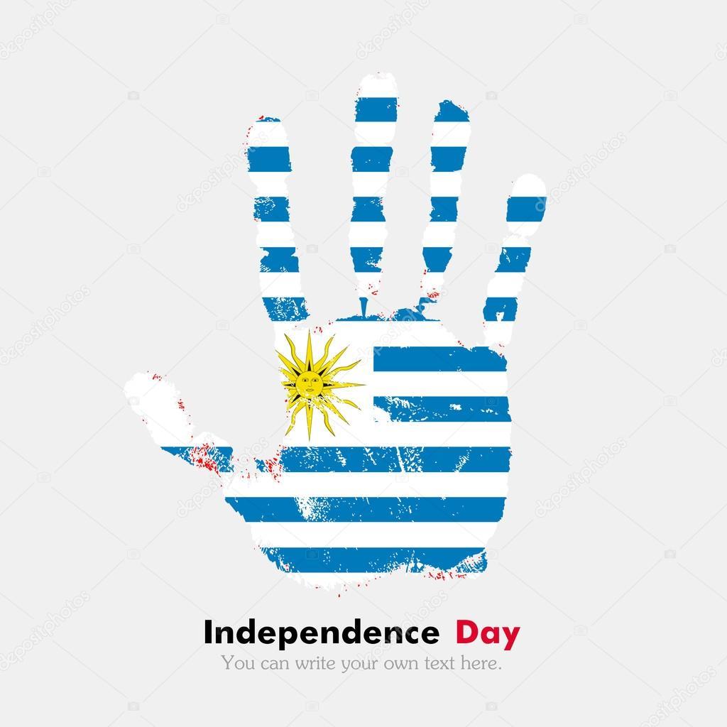 Imágenes Bandera De Uruguay Para Imprimir Huella De La Mano Con