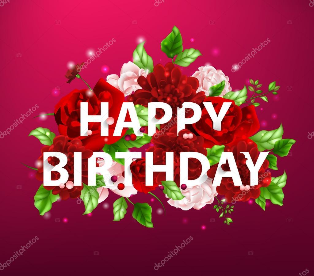 Imágenes Flores De Felicitaciones De Cumpleaños