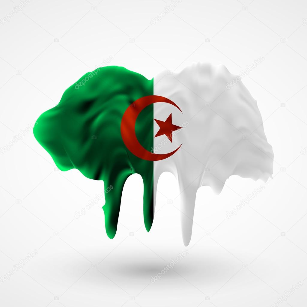 Drapeau Algérie couleurs peintes — Image vectorielle