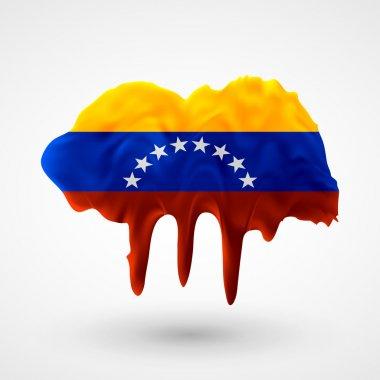 Flag of Venezuela painted colors