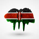 Photo Flag of Kenya painted colors