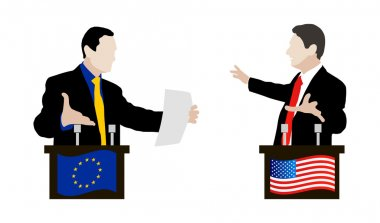 The debate between speakers. Rhetoric