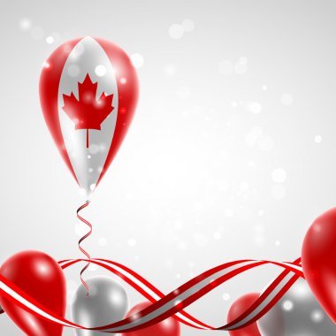 Flag of Canada on balloon