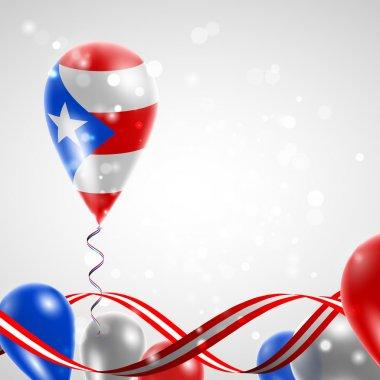 Flag of Puerto Rico on balloon