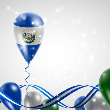Flag of El Salvador on balloon