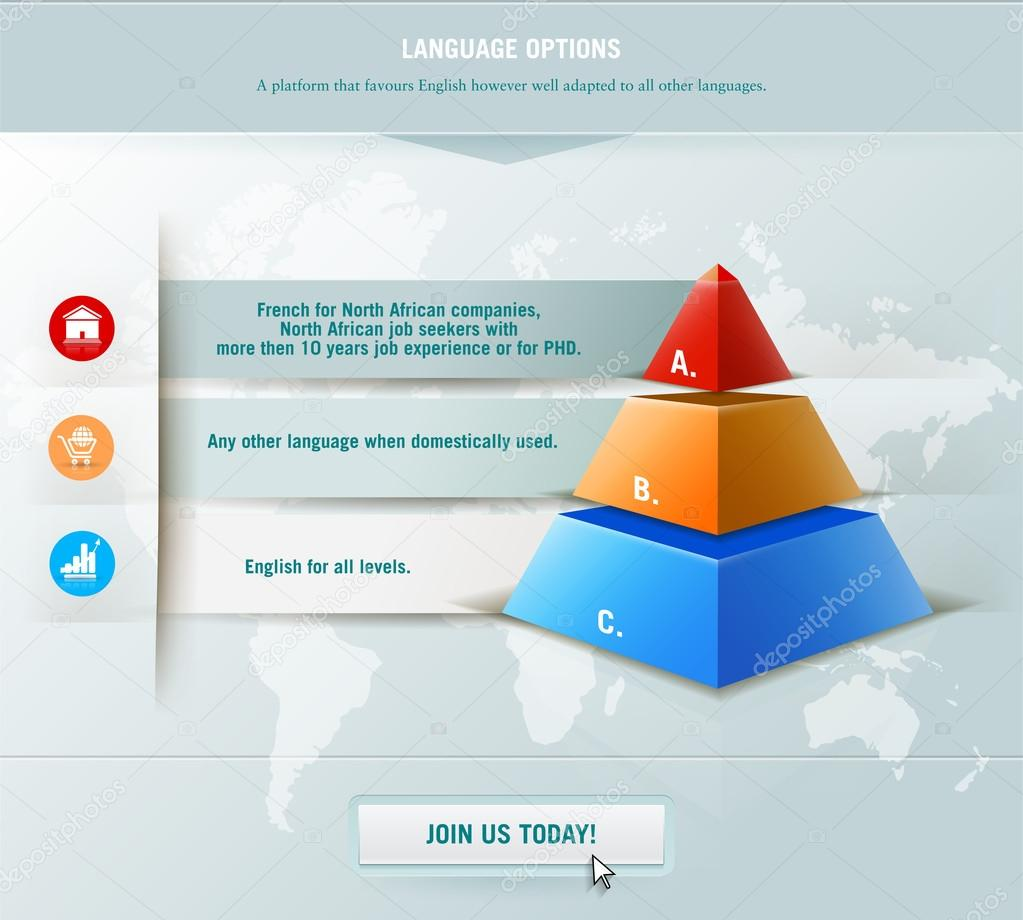 Infographics element with colored pyramid for workflow layout for workflow layout diagram number options step up options web design infographics promotion and advertising successful business development ccuart Image collections