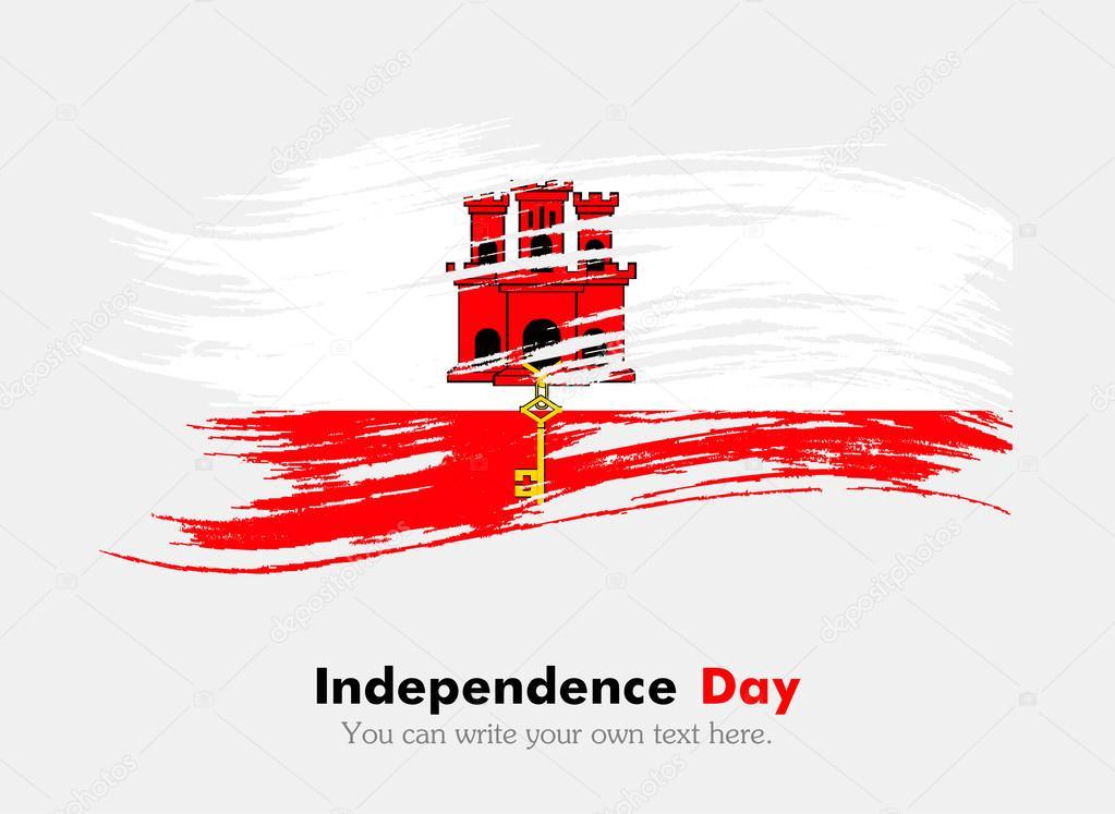 Bandiera Di Gibilterra In Stile Grungy Foto Stock