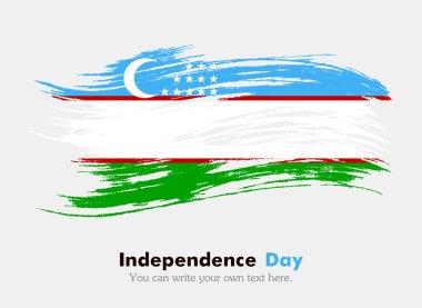 Uzbekistan flag in grungy style