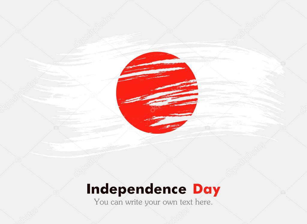 Vlag Van Japan Independence Day Stockfoto Marynabolsunova 72537221