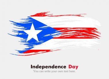 Flag of Puerto Rico.