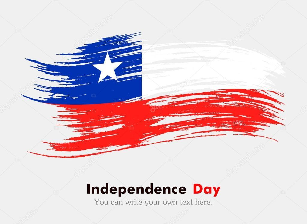 Bandera De Chile En Estilo Grunge