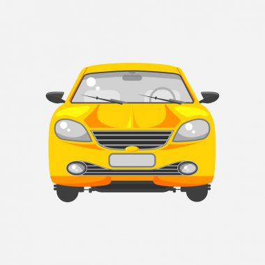 Car hatchback front view