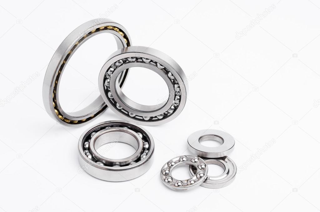 Various types of ball bearings