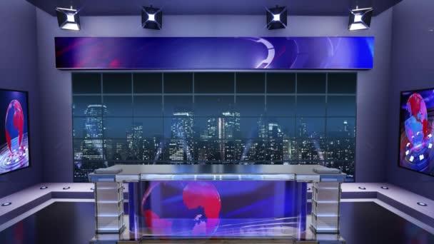Virtual Television Studio Background