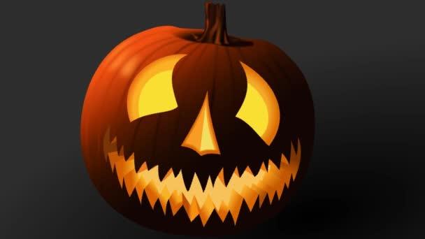 Ijesztő Halloween tök animáció