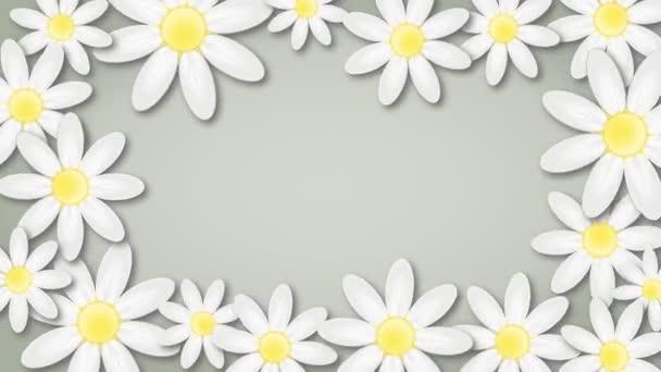 Květinové pozadí s rotujícím květiny