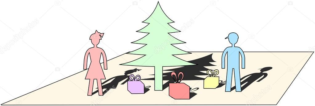 Pastel de colores cortado de la hoja de papel simple motivo Navidad ...
