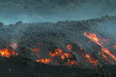 Lava flow at dawn