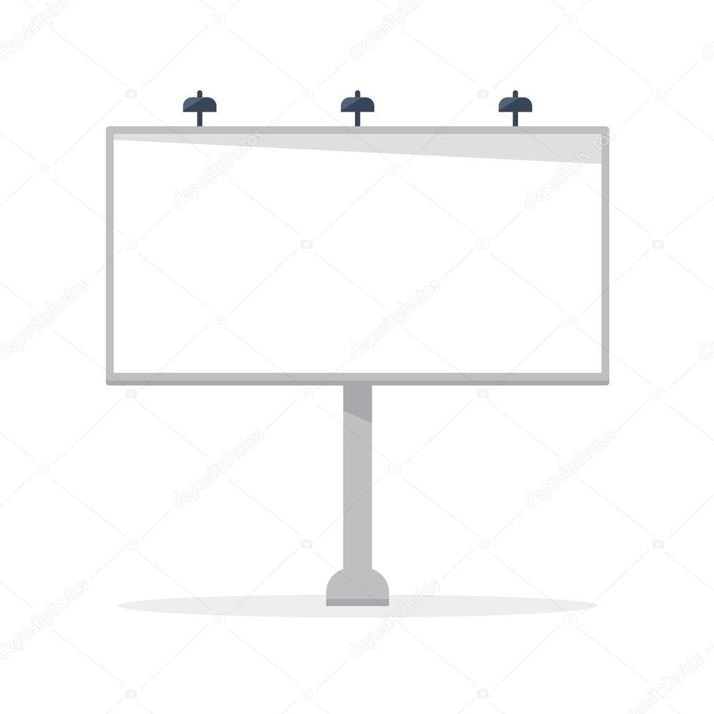 White Blank Billboard Vector Template Stock Vector C Sashabalazh