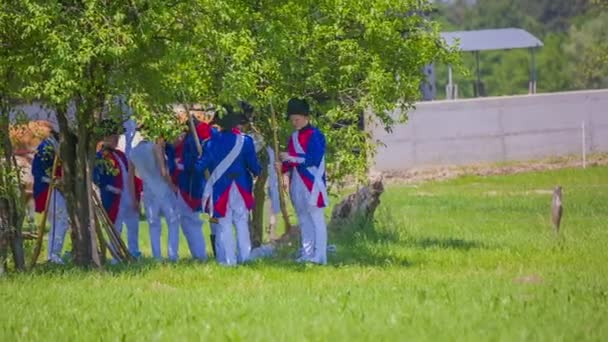 French army is hiding under the trees