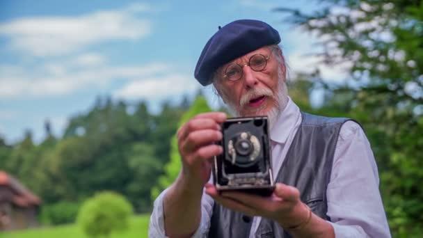 Vintage Fotograf ist Fotografieren