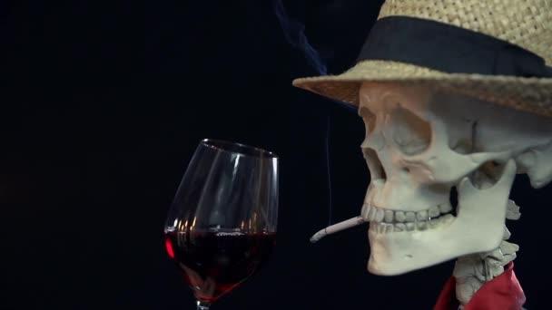 sigarette csontváz dohányzás