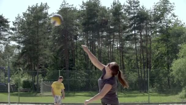 Beginning of the beach-volley game