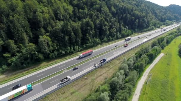 Repairing the highway with full of cars and trucks