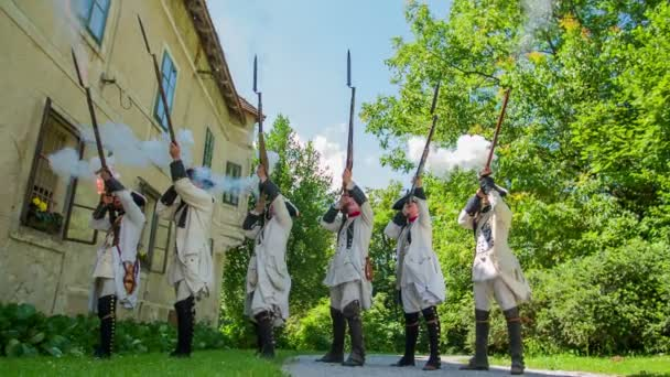 Presentation of a Middle Ages French solders shooting