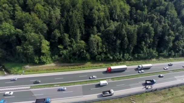Aerial shoot of repairing a highway