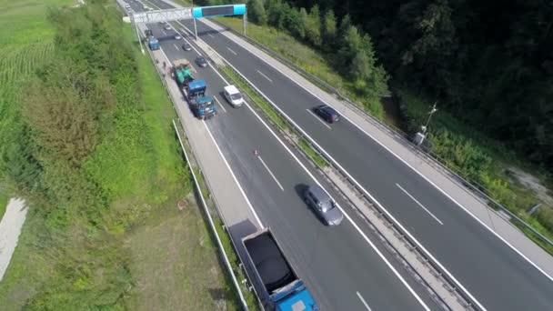 Repairing highway with new asphalt