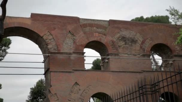 Old remains in Rome, Italy