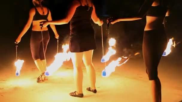 Středověký festival, ohňová show