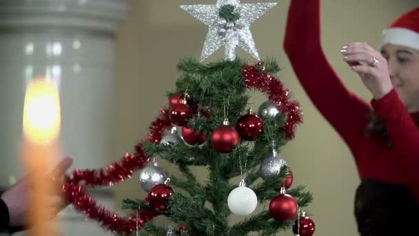 pár zdobení vánoční strom