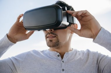 Man With The Virtual Glasses