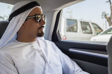 Arabian Man In Car