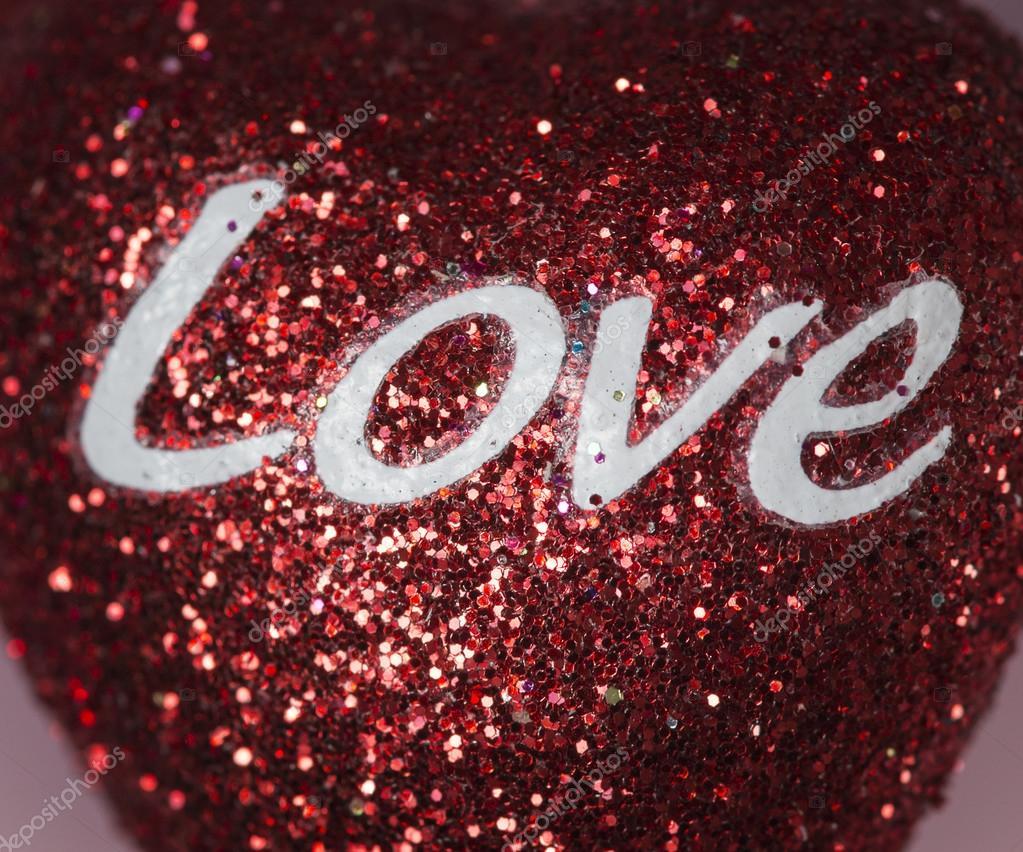 Cartas De Amor Em Um Corao Brilhante Fotografia Stock