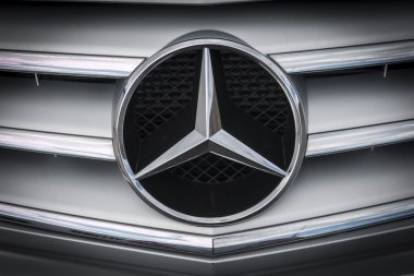 Altea, Spain - 31 October2015, detail logo of car brand Mercedes