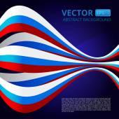 Fotografia Astratto con i nastri nei colori blu-rosso-bianco per la