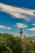 Andechs am Ammersee Oberbayern Deutschland Benediktinerkloster mit Brauerei.