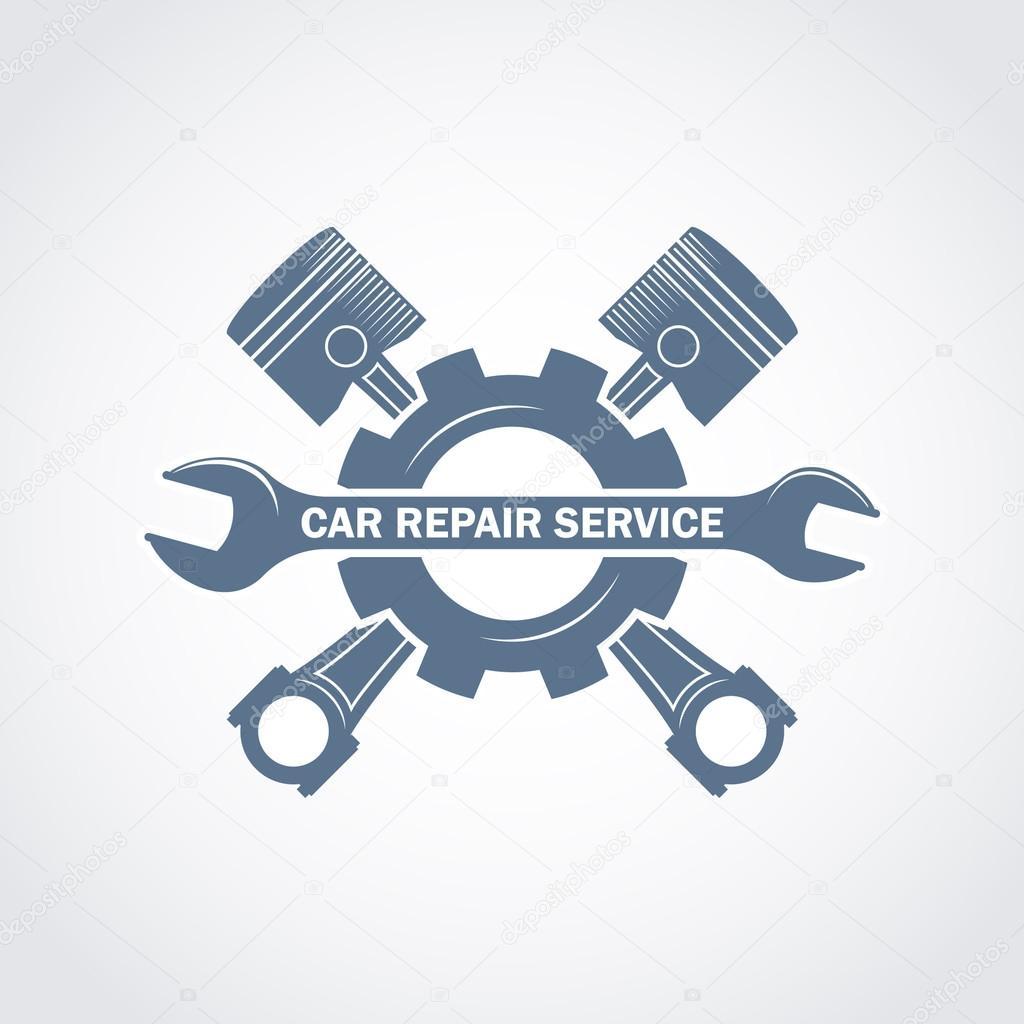 Car Repair Service Monochrome Logo Stock Vector Ribz