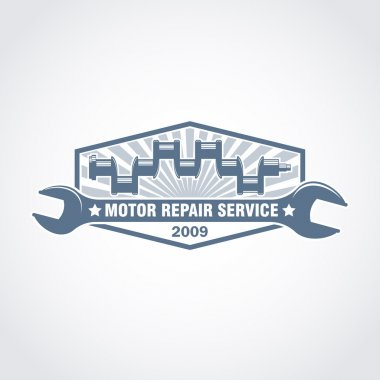 vector crankshaft monochrome logo