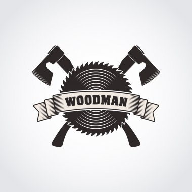 vector monochrome woodmans logo