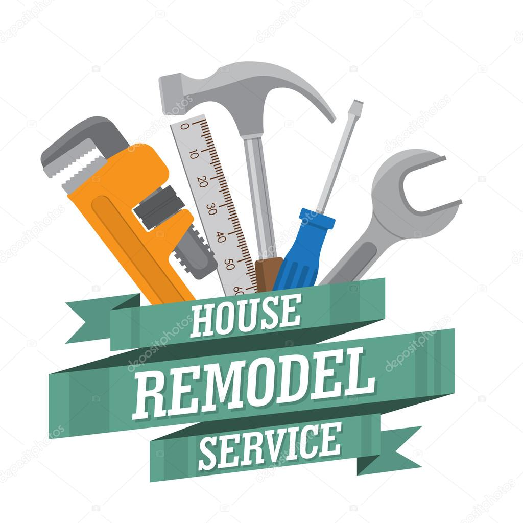 Logotipo de servicio de remodelaci n de casa vector de for House remodeling tools