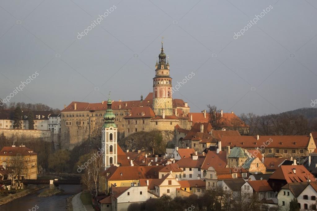 Historical Center Of Cesky Krumlov Czech Republic Unesco Worl Stock Photo