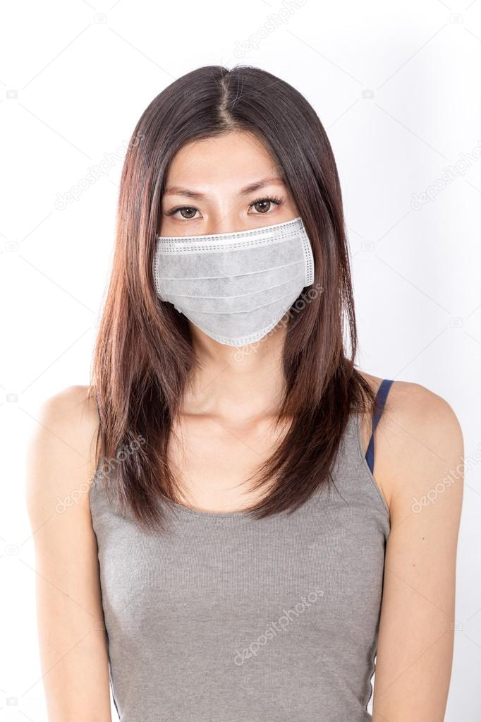 — Imagesbykenny A Woman Photo © Stock Mask Surgical Asian Wearing